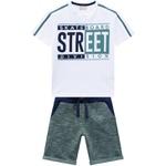 Conjunto Milon Infantil Masculino Camiseta + Bermuda Moletom