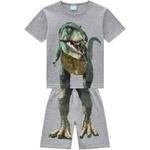 Pijama Kyly Masculino Infantil Camiseta + Bermuda estampa Dinossauro