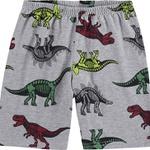Pijama Kyly Infantil Masculino 4-6-8 Branco com Cinza Dinossauros