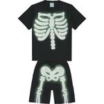 Pijama Kyly Infantil Masculino Esqueleto 4 ao 12