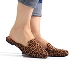 Mule Sapato Casual Confortável Estiloso - Onça