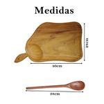 Tábua de carne colher de pau madeira resistente cozinha 2 un