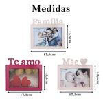 Porta Retrato Rosa Claro Presente Família 6 und 10x15cm