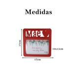 Porta Retrato Vermelho Mãe Presente Homenagem 6 und 10x15cm