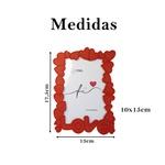 Porta Retrato Presente Love casa Vermelho Kit 6 und 10x15cm