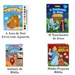 Livros infantis bíblicos histórias atividades divertidas 4un