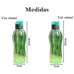 Garrafa plástica água suco resistente esportes verde 2 un