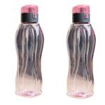 Garrafa plástica água suco esportes resistente rosa 2 un