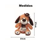 Brinquedo urso pelúcia cãozinho marrom