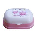 Porta sabonete barra saboneteira banheiro banho viagem rosa
