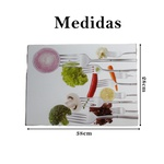 Tábua de vidro carne verduras legumes cozinha decoração 1 un