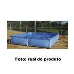 Piscina Retangular Estrutura De Ferro Infantil 1500L Mor