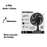 Ventilador Mondial 3 Velocidades 30Cm - 7090-02/04 220V