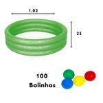 Piscina de Bolinha Banheira Inflável Verde - Mor