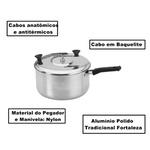 Panela Pipoqueira Número 20 Alumínio Polido Tradicional