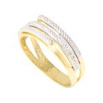 Anel Feminino Moderno 3 Fios em Ouro 18k com Diamantes