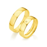 Par de Alianças de Casamento Berlim em Ouro 18k Com Diamante