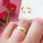 Par de Alianças de Casamento Bucareste em Ouro 18k com Diamantes