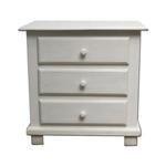 Mesa de cabeceira branca com 3 gavetas