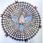 Divino Espírito Santo Resplendor com Esculturas de Flores 1,95 m.