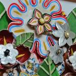 Quadro Vazado de Ânfora de Flores - Cor I