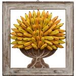 Quadro Vazado de Ânfora - Bananas