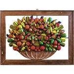 Quadro Vazado de Ânfora de Frutas