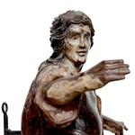 Escultura São Miguel Arcanjo - Antiga