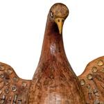 Escultura Divino Espírito Santo - Madeira Natural e Cristais