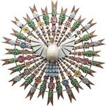 Divino Espírito Santo Resplendor com Esculturas de Flores e Folhas 1,20 M.