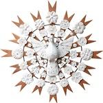 Divino Espírito Santo Resplendor com Esculturas de Flores 0,70 M.
