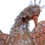 Escultura Divino Espírito Santo com Cristais - Base Escultura Cabeça