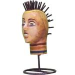 Escultura de Cabeça Mini Punk 1_Coleção Toti