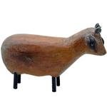 Escultura de Carneiro em Pé em Madeira P