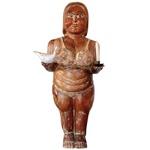 Escultura Boneca Gorda de Biquini Castiçal