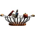 Fruteira de Ferro com Esculturas III - Oval