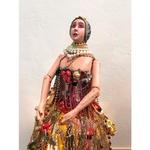 Luminária de Escultura Boneca com Saia Bijouterias - Toti