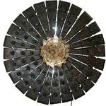 Luminária Mandala Réguas Antigas com Bolas de Gude e Cristais