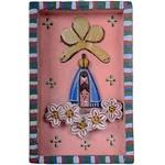 Quadro Pequeno Caixa Nossa Senhora com Flores