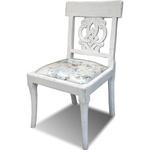 Cadeira Branca com Assento Estofado