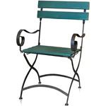 Cadeira de Ferro e Madeira - Verde