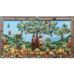 Quadro Grande Adão e Eva com Esculturas