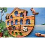 Quadro Pequeno Arca de Noé com Esculturas