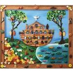 Quadro Arca de Noé com Esculturas