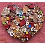 Painel Coração com Esculturas de Caveiras_Toti