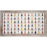 Painel Grade de Bustos Variadas 72 pçs