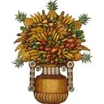 Painel Ânfora de Frutas com Apliques em Lata