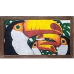 Quadro Vazado Grande de 3 Tucanos