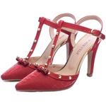 Sapato Scarpin Croco Glossy Vermelho