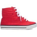 Tênis Feminino Jeans Vermelho
